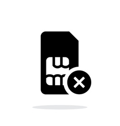 SIM card with cancel sign simple icon on white vector image