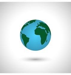 Simple earth icon globe vector