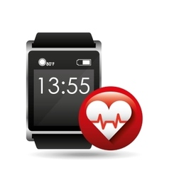 smart watch concept heart rate social media vector image vector image