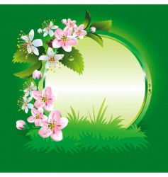spring collection of four seasons vector image vector image