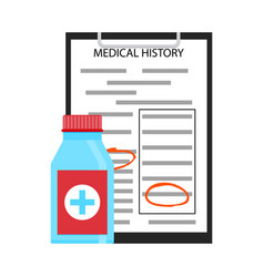 Treatment by medical history vector