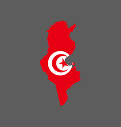 tunisia map and flag vector image