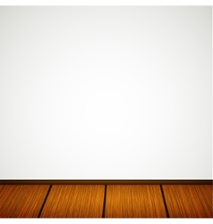 wall with wooden floor vector image vector image