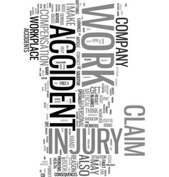 Work injury claim easy if you make it text word vector
