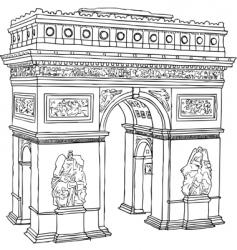Paris Arc de Triomphe vector image