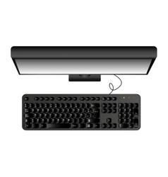Computer desktop display icon vector