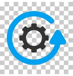 Gearwheel rotation direction icon vector