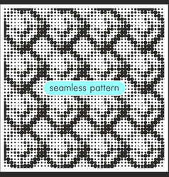 Seamless patterns with halftone dots 10 vector