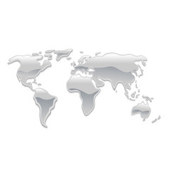 Liquid metal world map vector