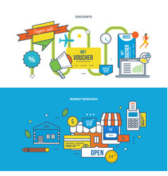 Discounts special offers finance research vector