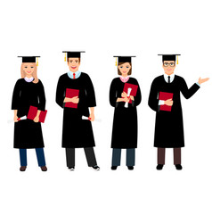 student graduation set vector image