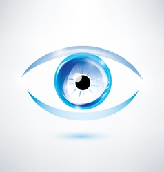 Human blue eye abstract shape vector
