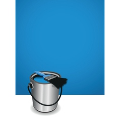 Blue paint pot background vector