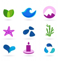 Wellness relaxation and medical icons vector