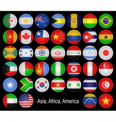 flags buttons vector image