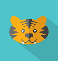 Modern flat design tiger icon vector