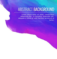 Abstract colorful ink background design vector
