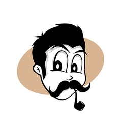 Pipe smoker guy vector