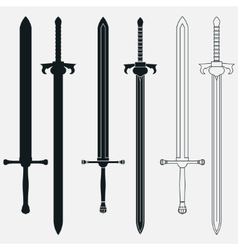 Ancient swords set vector