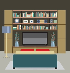 Modern style living room vector