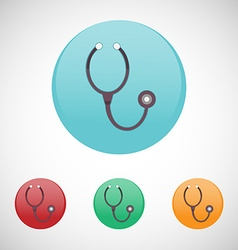 Stethoscope icon set vector