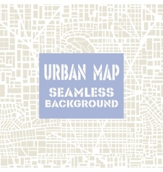 Seamless map city plan vector