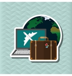 Travel with airplane editable vector