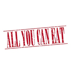 All you can eat red grunge vintage stamp isolated vector