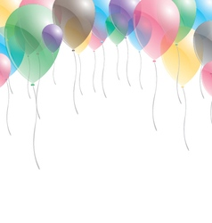 Balloons background balloons on sky background vector