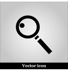 Magnifying glass on grey background vector