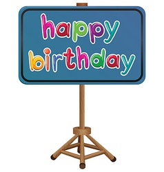 A happy birthday signboard vector image