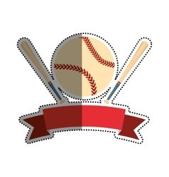 Baseball sport game vector image
