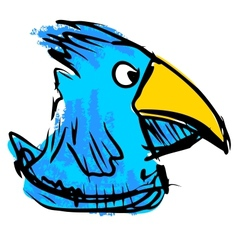 Bird with big beak vector image vector image