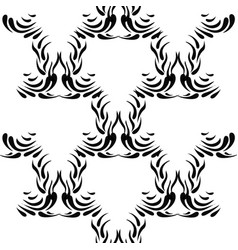Black abstract seamless pattern vector