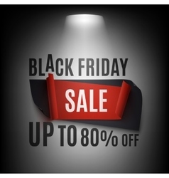 Black Friday Sale abstract banner illuminated vector image