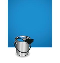 Blue paint pot background vector
