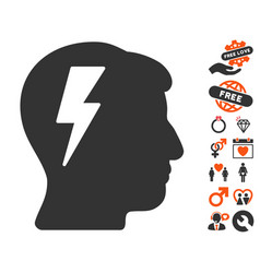 Brainstorming icon with dating bonus vector