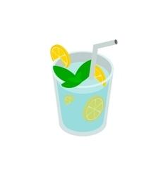 Caipirinha cocktail drink icon isometric 3d style vector image