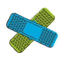 Crossed bandages icon image vector