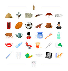 Dentist medicine england and other web icon in vector