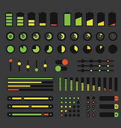 Different interface design elements vector image vector image