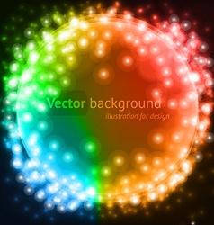 Fantasy lights background vector