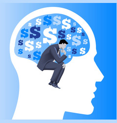 Financial thinking business concept vector