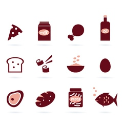 food design elements vector image vector image