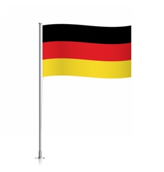 Germany flag waving on a metallic pole vector