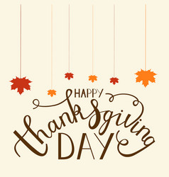 hand drawn thanksgiving lettering vector image vector image