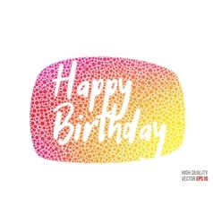Happy birthday beautiful design element for vector image vector image