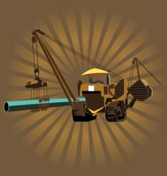 heavy machinery vector image vector image