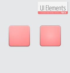 Light ui elements part 4 square vector