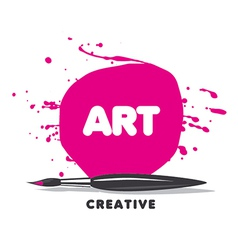 Logo brush paint and spray vector
